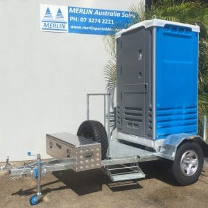 4 X 4 Portable Toilet Trailer Galvanised - extended draw bar and Toolbox