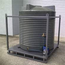 Portable Water Tank Skid with Pump and Plumbing