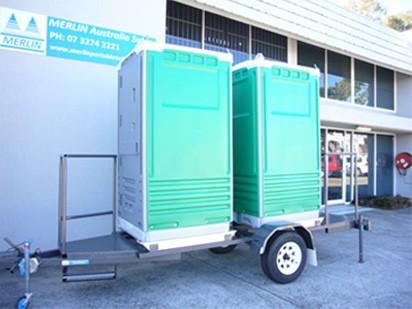 Trailer Mounted Merlin Ultra Portable Toilet