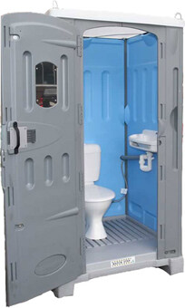 Ultra Portable Sewer Connect Toilet Merlin Portable Toilets