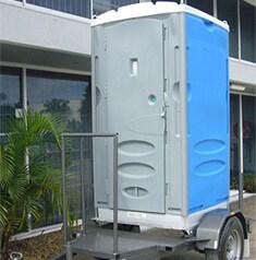Merlin Single Trailer Portable Toilet