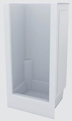 Fibreglass Shower Internal 1000 x 785 x 1850