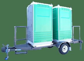 Merlin Ultra Double Trailer Mounted Portable Toilets