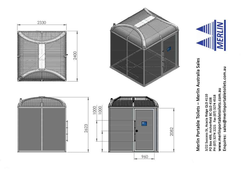 New Merlin Wheelchair Access Portable Toilet Specs